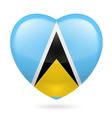 Heart icon of Saint Lucia vector image
