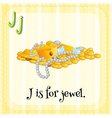 A letter J for jewel vector image