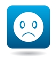 Sad emoticon icon simple style vector image