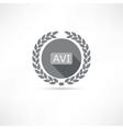 avi icon vector image