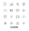 cloud technology internet web system vector image