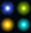 color sunburst vector image