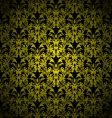 floral gothic gold vector image