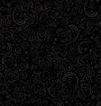 Grey seamless floral pattern on black background vector image
