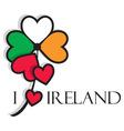 irish clover vector image