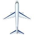 Modern design of aeroplane vector image