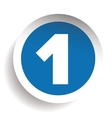 Number One sticker blue vector image