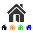 open house door icon vector image