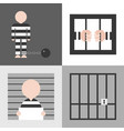 prisoner flat design vector image