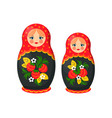 russian doll toys from santa vector image