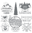 set of lumberjack and woodsman vector image