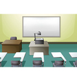 College classroom vector image
