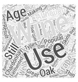 An Introduction To Chardonnay Word Cloud Concept vector image