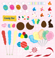 Candy Pieces Collection vector image vector image