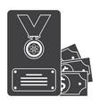 Scientific prize icon vector image