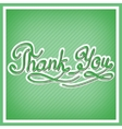 Thank you card with handwritten letters vector image vector image