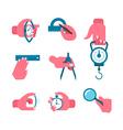 Hand-held measurement tools vector image
