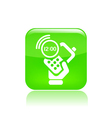 time phone icon vector image vector image