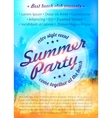 Blurred summer tropical background with palms vector image vector image