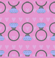 a seamless pattern with rings vector image