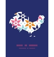 abstract colorful stars rooster silhouette vector image