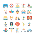 Circus Colored Icons 2 vector image