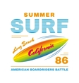 SurfIing poster vector image