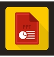 File PPT icon flat style vector image