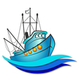 Fishing boat vector image