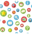 Seamless pattern with website icons vector image vector image