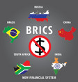 brics countries infographics vector image