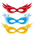 masks for masquerade vector image vector image