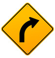 Yellow Curve Sign vector image