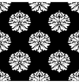 Arabesque pattern of floral motifs on black vector image vector image