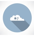 cloud with snowfall icon vector image vector image