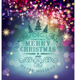 template Christmas typography Template for Christm vector image vector image
