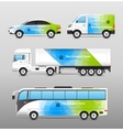 Transport Advertisement Design vector image