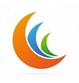 Moon icon or logo design elements vector image