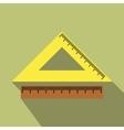 2 school rulers flat icon vector image