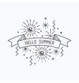 Hello summer Inspirational vector image