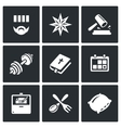 Set of Prison Icons Prisoner Tattoo vector image