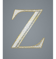 Abstract golden letter Z vector image