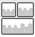 Black frame and city vector image
