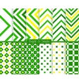 Bright and simple green and yellow stripes and vector image
