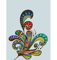 color floral hand drawn ornament vector image