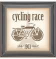 Cycling race vector image