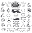 Hand drawing lettering ampersands set Wedding vector image