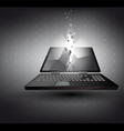 laptop in 3D with light effect vector image