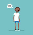 low battery conceptual young exhausted black man vector image