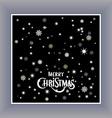 Merry Christmas typography handwriting background vector image